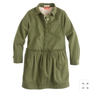 CREWCUTS Military Style Shirt Dress - NEW